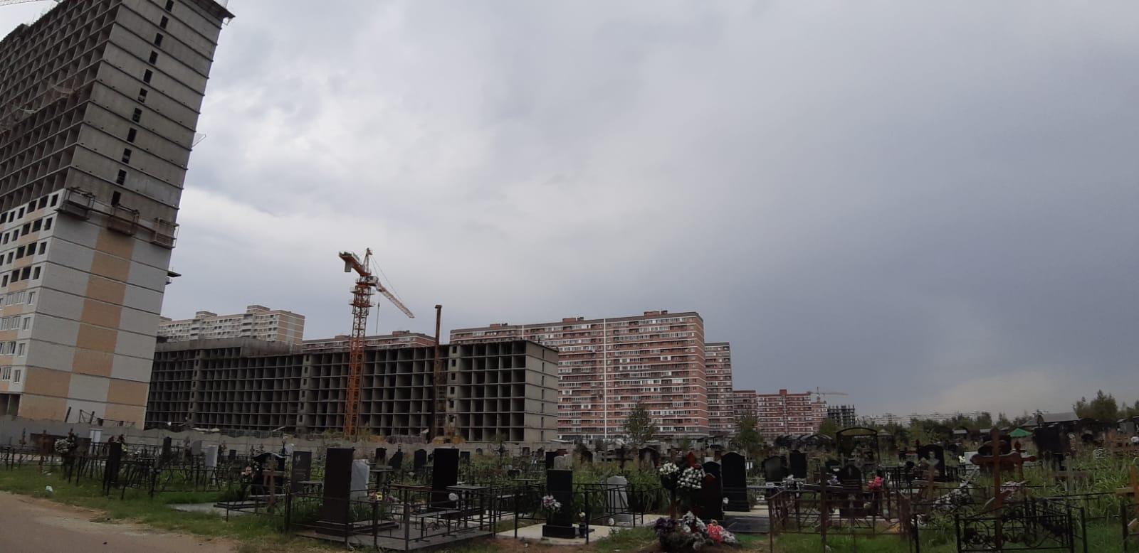 В Краснодаре новостройки «наступают» на покойников ВИДЕО