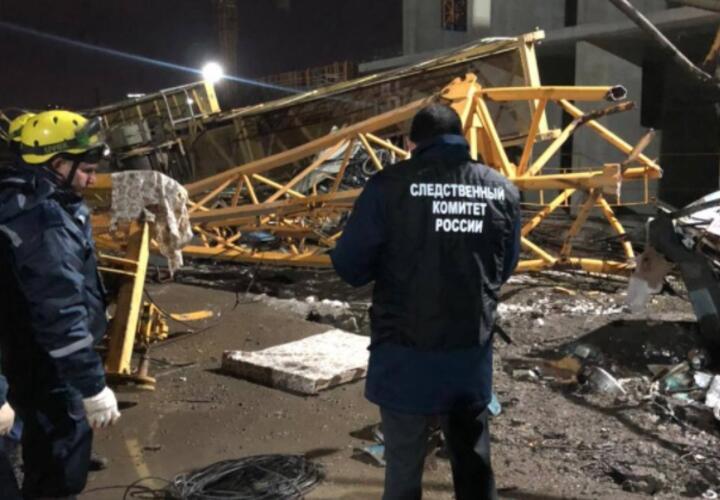 Опубликовано видео с места падения башенного крана в Краснодаре