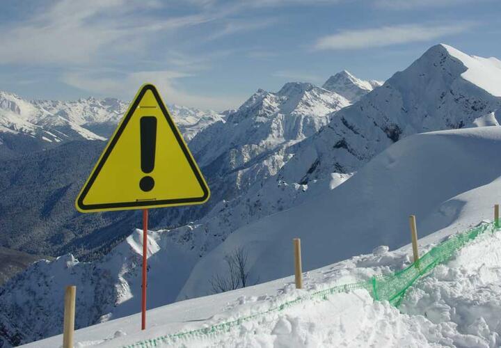 В Краснодарском крае объявлено экстренное предупреждение из-за схода лавин