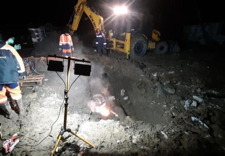В Сочи устранена крупная авария на водоводе