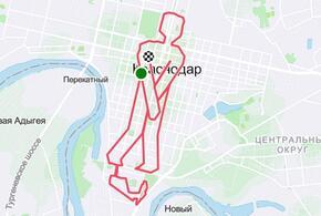 Краснодарский велосипедист «нарисовал» на карте описавшегося человечка