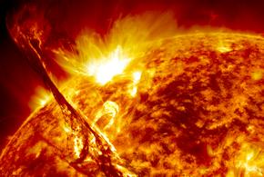 На Солнце зафиксирована мощнейшая вспышка