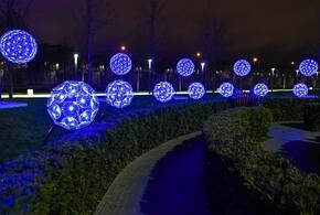 К Новому году парк «Краснодар» украсили огромные одуванчики