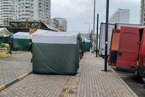 Краснодарские тротуары заполонили ярмарочные палатки