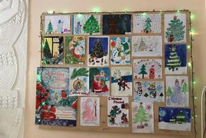 На Усть-Лабинском элеваторе разместили новогодние рисунки