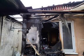 Под Анапой горел частный дом