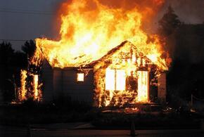 Пожарные на Кубани потушили горящий частный дом