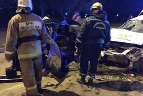 В Краснодаре произошло смертельное ДТП с участием такси