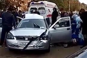 В Краснодарском крае в крупном ДТП пострадали три человека