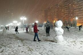 В столицу Кубани пришла настоящая зима