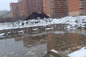 На месте перспективной зеленой зоны в Краснодаре разливаются фекалии