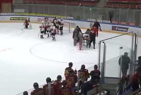 После потасовки во время игры в хоккей госпитализировали игрока (ВИДЕО)