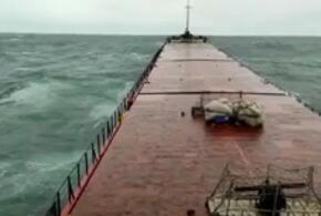 Появилось видео крушения судна у берегов Черного моря (ВИДЕО)