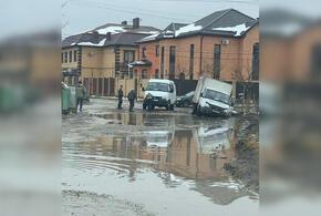 В частном секторе Краснодара размыло дороги (ВИДЕО)