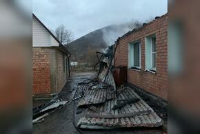 В Туапсинском районе из-за пожара в доме эвакуировали 10 человек