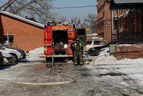 В Краснодаре произошел крупный пожар на складе