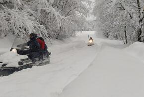 В Краснодарском крае три населенных пункта оторваны от цивилизации из-за снега