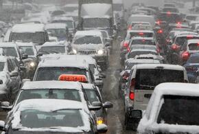 В понедельник утром пробки в Краснодаре достигли восьми баллов