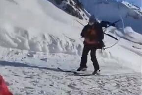 В Сочи предприимчивый лыжник придумал способ не платить за подъемник (ВИДЕО)