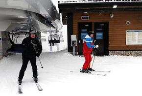 В Сочи Путин и Лукашенко прокатились на лыжах