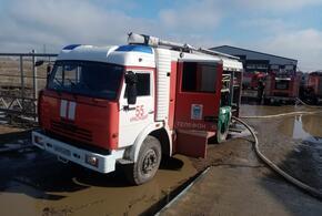 В Краснодаре на промышленном предприятии во время пожара пострадал человек