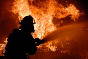 В Сочи сгорела двухэтажная хозпостройка
